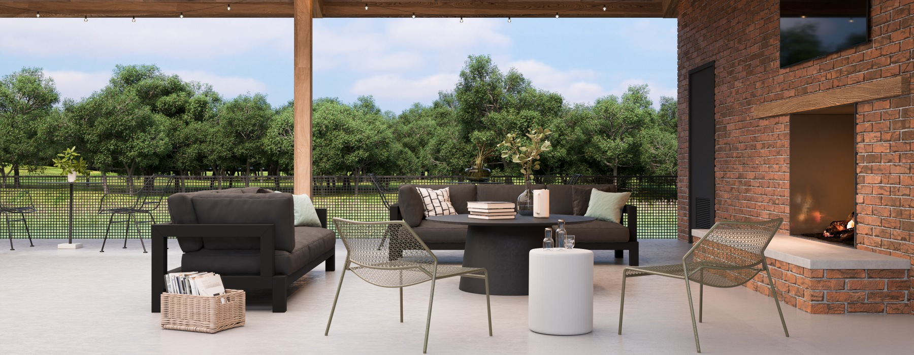 Outdoor Entertainment & Grilling Area